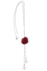 Модель Подвеска 9705 серебро+бордовый Fashion Jewelry