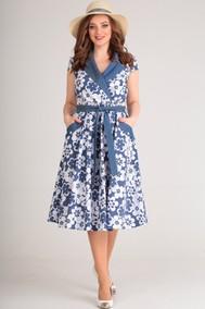 Модель 614 синий, белый Anastasia MAK