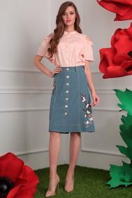 Модель 2408 розовый+зеленый (сакура) Мода-Юрс