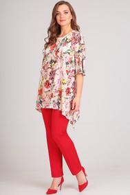 Модель 1148-1 красный+цветы Arita Style-Denissa