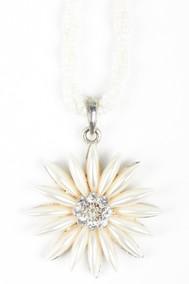 Модель Подвеска цветок 1 белый Fashion Jewelry