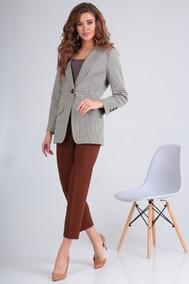 Модель 1087 серый+коричневый Shetti
