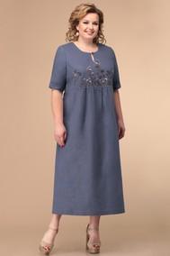 Модель 1789 оттенки синего+тёмная вышивка Линия-Л
