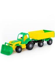 44556 Крепыш, трактор с прицепом №1 и ковшом