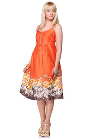 4153 оранжевый с коричневым Golden Valley
