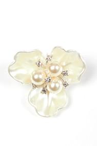 Модель Цветок с бусинами бежевый Fashion Jewelry