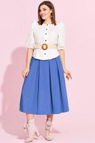 Модель 864 голубая юбка Милора-стиль