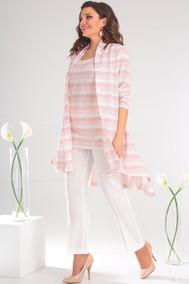 Модель 2357 розовые полоски+молочный Мода-Юрс