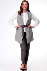 Модель жк-81, бр-17 гусиная лапка+темно-серый Talia fashion