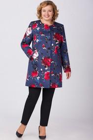 Модель 1089 темно-синий+цветы Svetlana Style