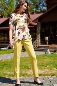 Модель 2058 лимон+цветы ЛЮШе