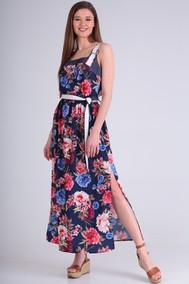 Модель 710 синий+цветы Anastasia MAK