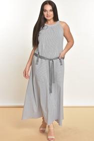 Модель 1589 Серый+белый в полоску Lady Style Classic