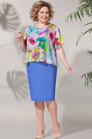Модель 620 юбка синяя, верх цветы BAGIRA