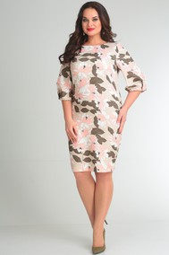 Модель 435 бежевый+цветы SVT-fashion