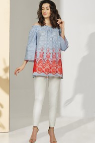 Модель 1047 голубой+светлые тона МиА Мода