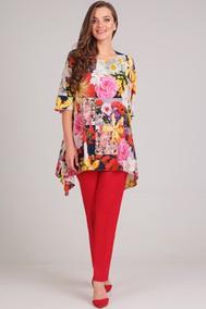 Модель 1148-2 красный+цветы Arita Style-Denissa