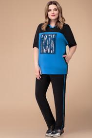 Модель 1249 черный+синий Svetlana Style