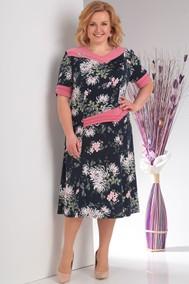 Модель 975/2 Темно-синий /розовый  Милана