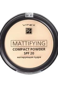 VITEX Матирующая компактная пудра для лица Mattifying compact powder SPF20, тон 02 Natural beige