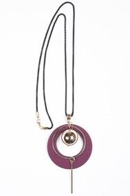 Модель Подвеска 9703 золото+бордовый Fashion Jewelry