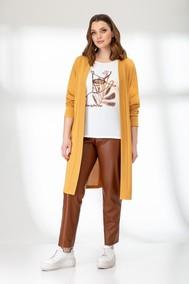 Модель 3827 горчичный и коричневый Эледи