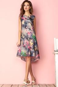 Модель 2882 темные тона в цветы Niv Niv Fashion