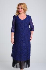 Модель 541 тёмно-синий гипюровый SVT-fashion