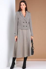 Модель 2671 гусиная лапка-серый меланж Viola Style
