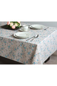Модель 4218.482702 Цветочки бежевый с голубым Блакiт