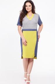Модель 641 синий+ желтый+полоска Erika Style