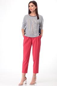Модель 2011 сине-белая полоска+ красный Lady Three Stars