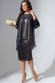 Модель 736 черный+золото Erika Style