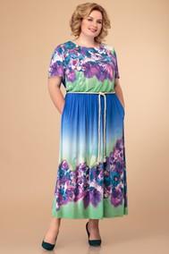 Модель 1411 синий+цветы Svetlana Style
