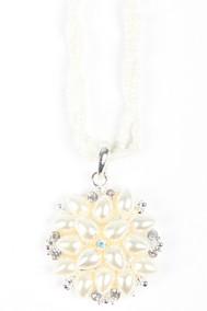 Модель Подвеска цветок 2 белый Fashion Jewelry