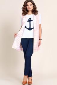 Модель 227 розовый+синий+белый Мублиз