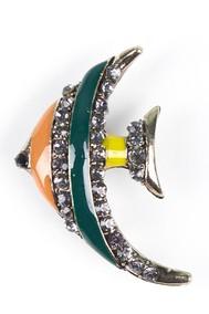 Модель Брошь 5826 (5836) желтый+зеленый+оранжевый Sergio Stefano