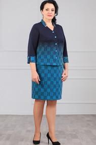 Модель 1085 сине-бирюзовый Madame Rita