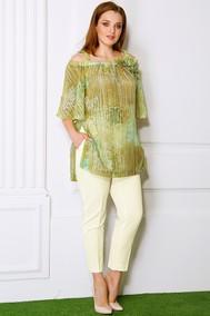 2353 зеленый+кремовый Мода-Юрс