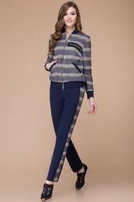 Модель 1210 темно-синий+полоска Svetlana Style