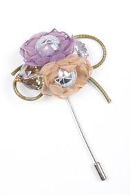 Модель Брошь 57041 сиреневый Fashion Jewelry