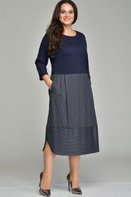 Модель 1641 темно-синий в полоску Lady Style Classic
