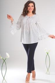 Модель 2345 молочный+цветы Мода-Юрс