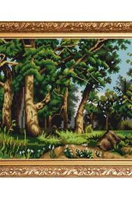 Рисунок на ткани   Дубовая роща ( И.Шишкин) ( Бисер)