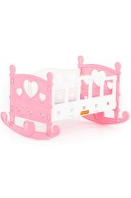 Кроватка-качалка сборная для кукол №2 (7 элементов)