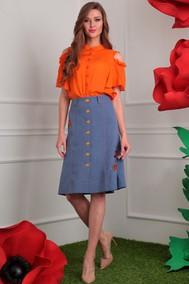 Модель 2408 оранж+синий джинс Мода-Юрс