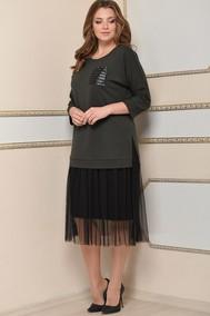 Модель 1457 Хаки с черным Lady Style Classic