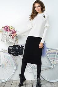 Модель 2840 белый Niv Niv Fashion