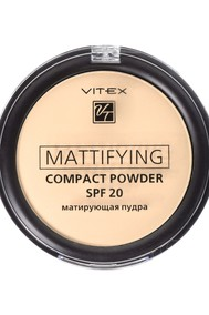 VITEX Матирующая компактная пудра для лица Mattifying compact powder SPF20, тон 04 Sand beige