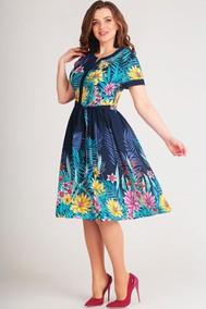 Модель 2364-3 синий+цветы Асолия